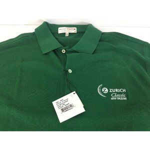 Zurich Classic Golf Green Polo Shirt Mens Sz L NWT